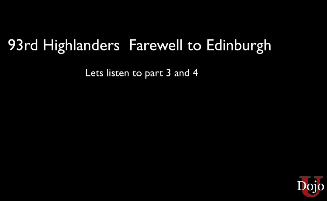 93rd Highland Farewell to Edinburgh