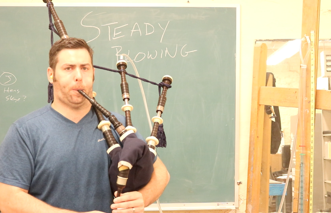 Why a Learning Bagpiper Should NOT Aim for Steady Blowing