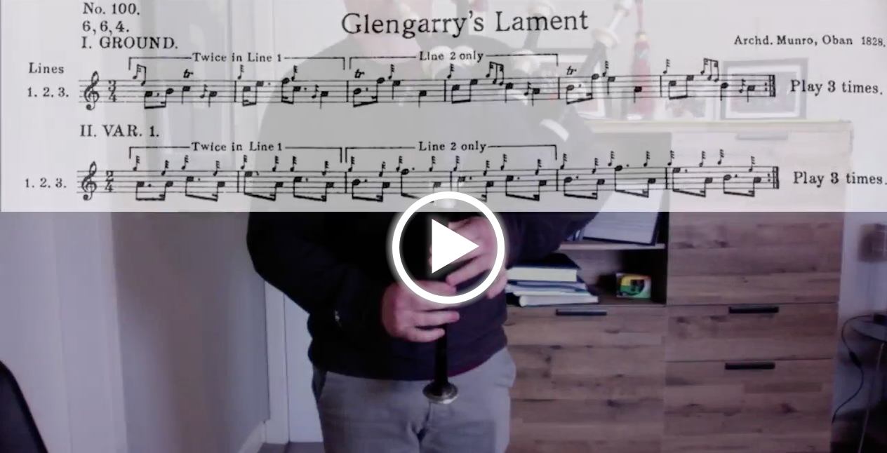 Glengarry's Lament - Directors Commentary + Full Tune
