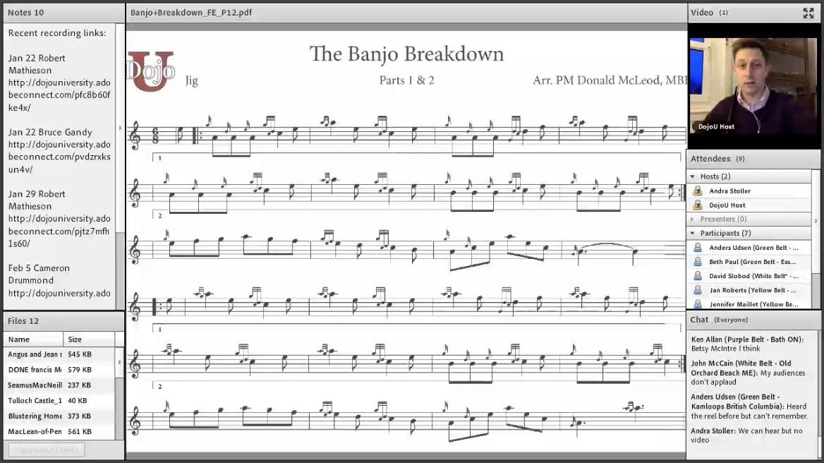 The Banjo Breakdown - Live Class