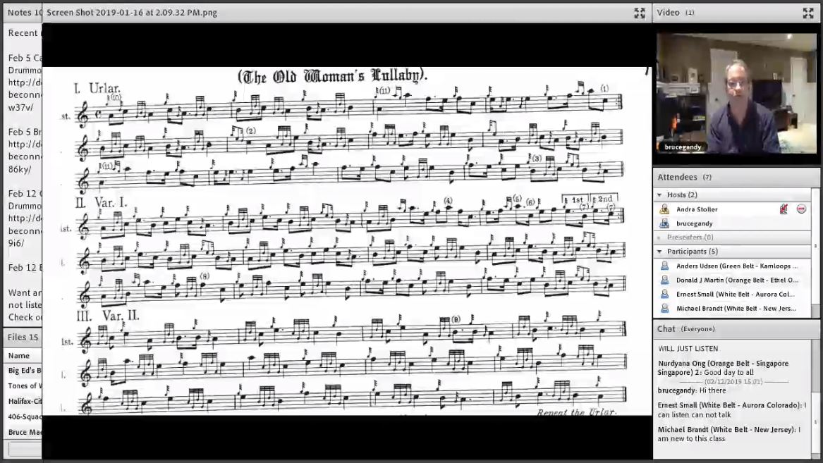 The Old Woman's Lullaby - Live Class - Part 3