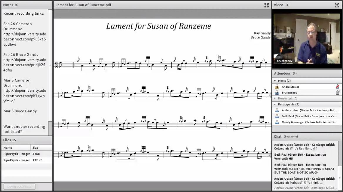 Lament for Susan of Runzeme & Miss Ronnie Eastwood - Live Class