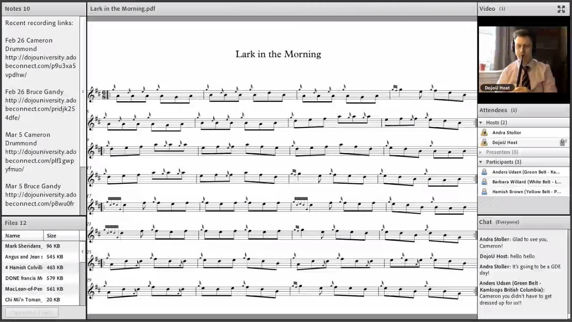 Lark in the Morning - Live Class