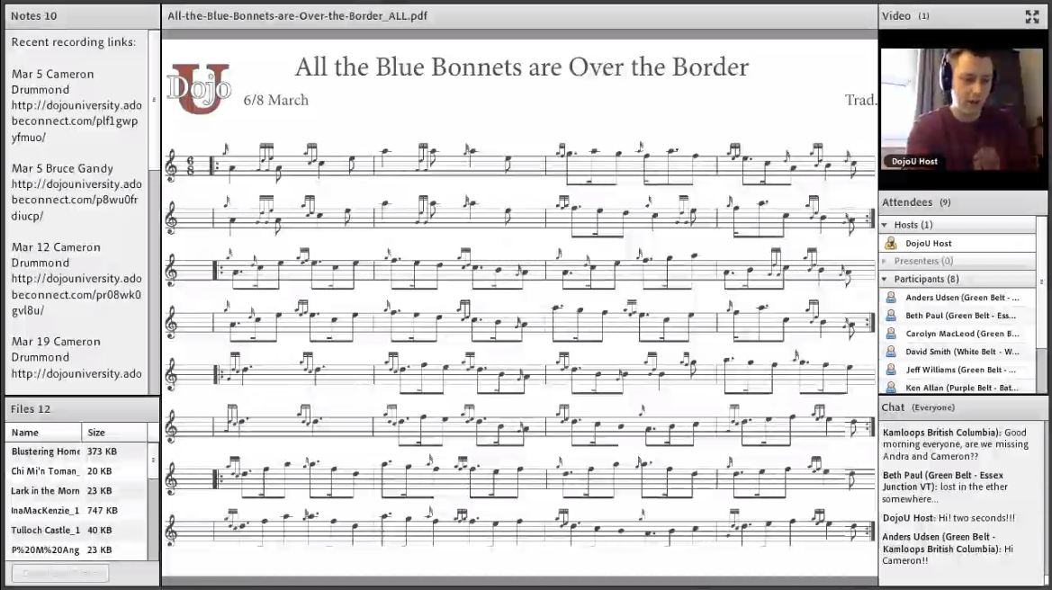 All the Blue Bonnets Over the Border - Live Class - Part 2