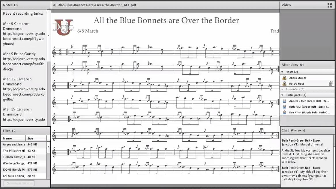 All the Blue Bonnets Over the Border - Live Class