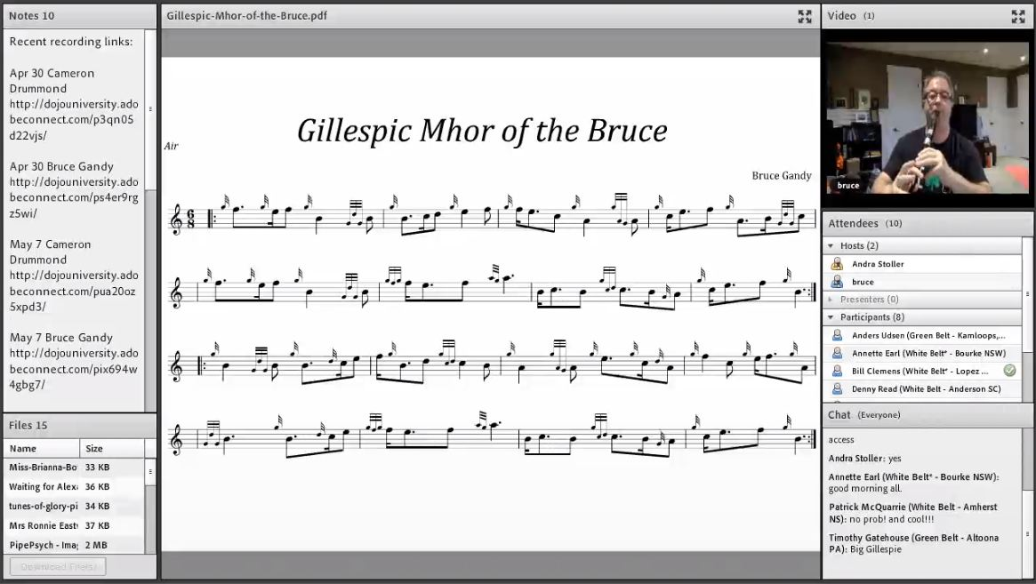 Gillespic Mhor of the Bruce - Live Class