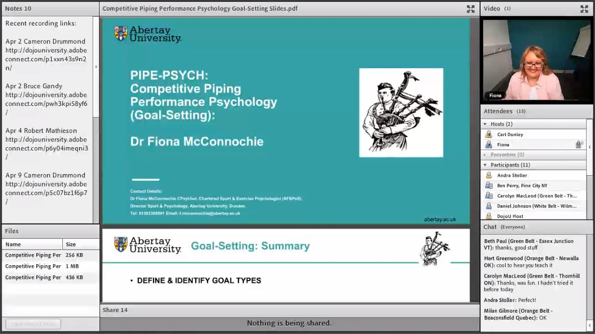 Pipe Psych - Competitive Piping Performance Psychology - Live Class