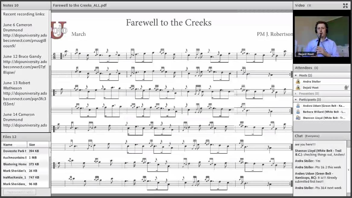 Farewell to the Creeks - Live Class