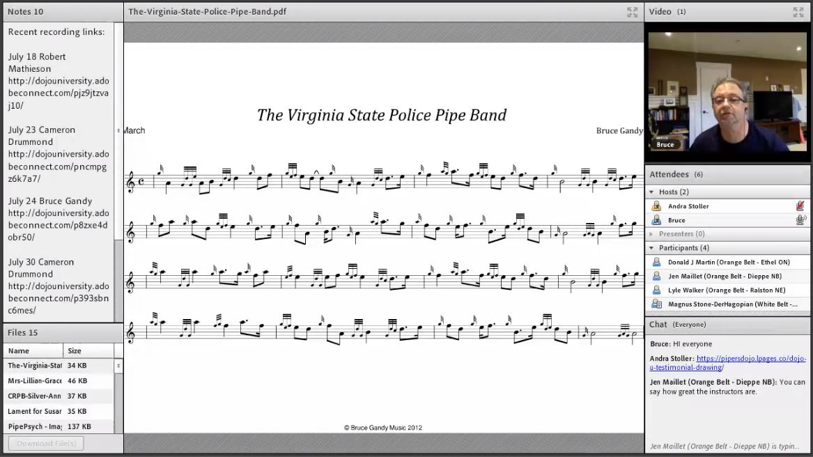 Virginia State Police Pipe Band - Live Class