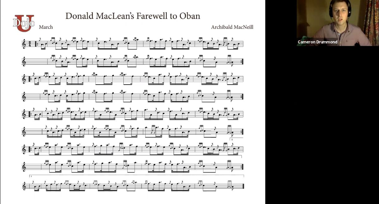 Donald McLean's Farewell to Oban - Live Class